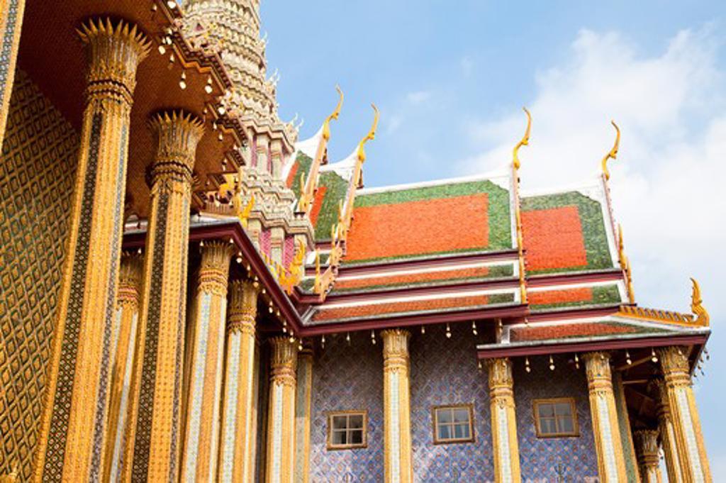 Stock Photo: 1397R-72715 Thailand, Bangkok, Grand Palais, Wat Phra Kaeo, Prasat Phra Debidorn