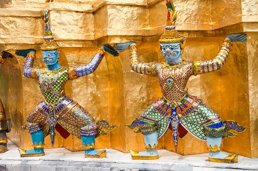 Stock Photo: 1397R-72720 Thailand, Bangkok, Grand Palais, Wat Phra Kaeo