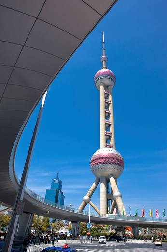 Stock Photo: 1397R-72879 China, Shanghai, Oriental Pearl Tower