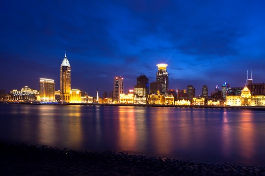 Stock Photo: 1397R-72913 China, Shanghai, Huangpu River