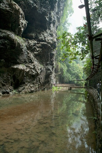 Tongling Grand Canyon, Guangxi Province, China : Stock Photo