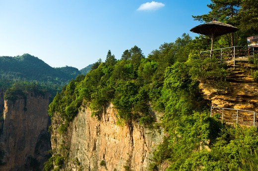 "Stock Photo: 1397R-73195 Yuanjiajie (Bounds of Yuan), Scenic Spot named """"First Bridge in the World"""", Zhangjiajie, Hunan Province, China, Asia"