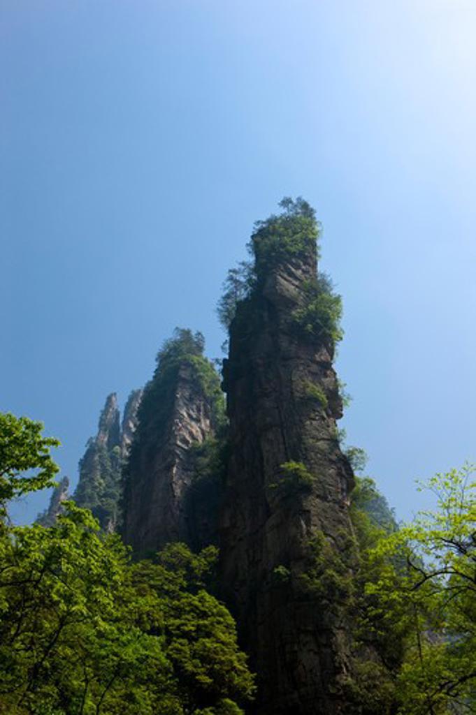 Stock Photo: 1397R-73278 Wenxing Rock, Zhangjiajie, Hunan Province, China, Asia