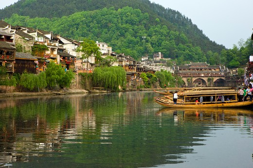 Stock Photo: 1397R-73356 Pheonix Old City, Tuojiang River, Phoenix County Province, Hunan Province, China, Asia