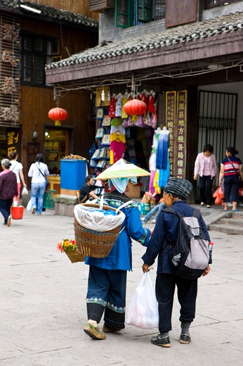 Stock Photo: 1397R-73361 Pheonix Old City, Miao Minority, Phoenix County Province, Hunan Province, China, Asia