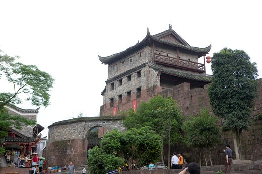 Stock Photo: 1397R-73366 Pheonix Old City, North Gate, Phoenix County Province, Hunan Province, China, Asia
