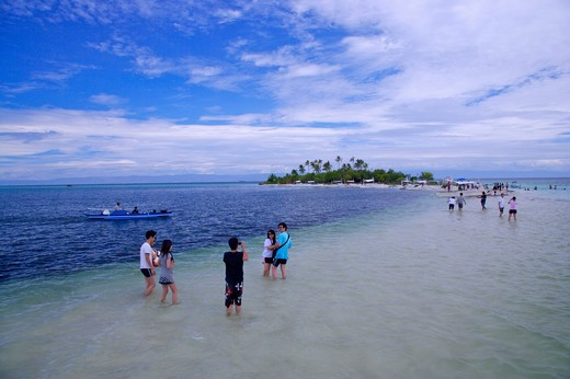 Beautiful sea scenery of Balicasag Island, Cebu, Philippines, Asia : Stock Photo