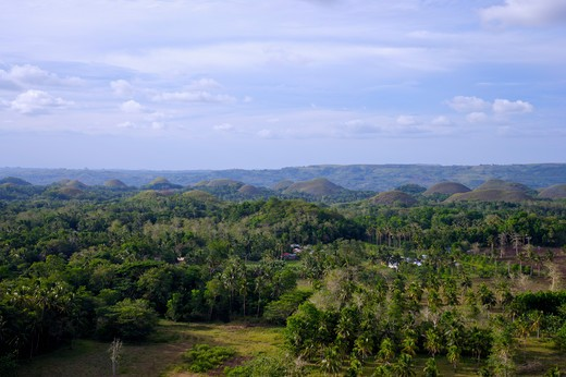 Stock Photo: 1397R-73444 The Chocolate Hills, Bohol Island, Cebu, Philippines, Asia