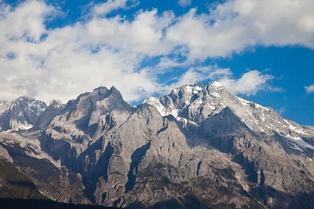 Lijiang, Yunnan Province, China, Asia, Yulong Snow Mountain, : Stock Photo