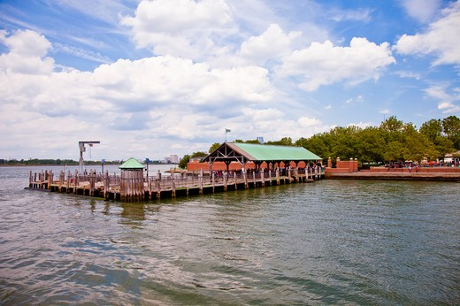Stock Photo: 1397R-74566 Ferry Terminal, Liberty Island, New York City, New York State, USA, North America