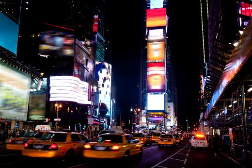 Times Square, Manhattan, New York City, New York State, USA, North America : Stock Photo