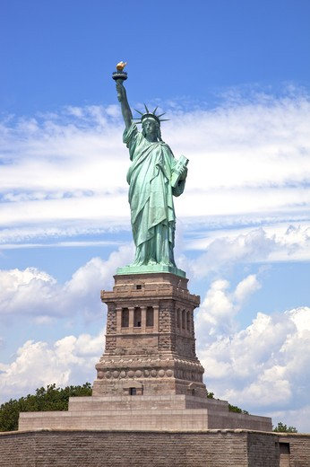 Statue of Liberty, Liberty Island, New York City, New York State, USA, North America : Stock Photo