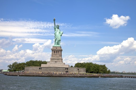 Stock Photo: 1397R-74647 Statue of Liberty, Liberty Island, New York City, New York State, USA, North America