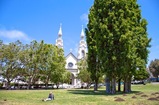 Stock Photo: 1397R-74711 Washington Square, San Francisco, California, USA, North America