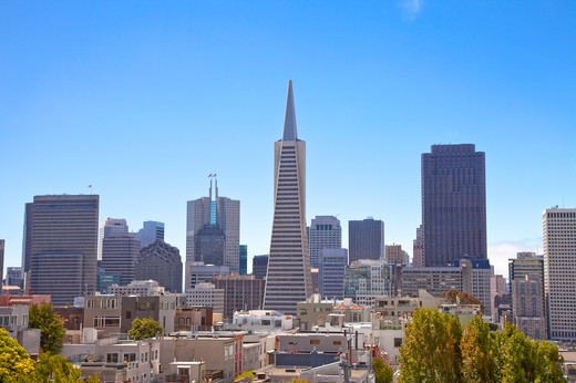 Stock Photo: 1397R-74800 City Street, San Francisco, California, USA, North America