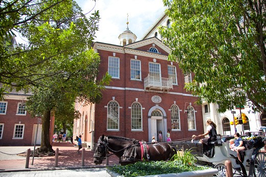 Independence Hall in Philadelphia, Pennsylvania, USA, North America : Stock Photo