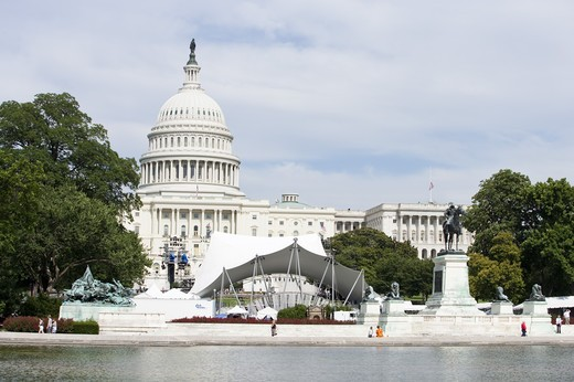 Stock Photo: 1397R-74884 Capitol Building in Washington DC, USA, North America
