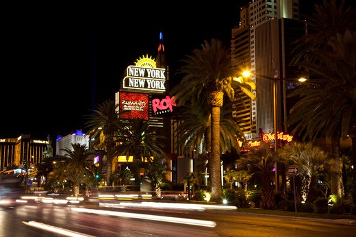 Las Vegas Strip at night : Stock Photo