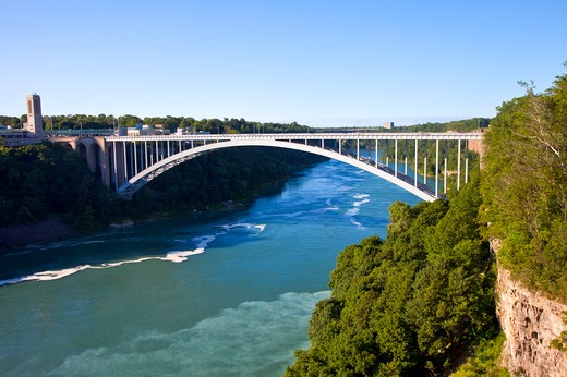 Stock Photo: 1397R-74943 Bridge in Niagara Falls, New York State, USA, North America