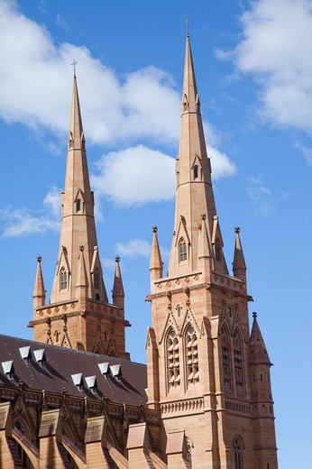 Stock Photo: 1397R-75220 Cathedral, Gothic Style, Catholicism, Sydney, Australia - Australasia