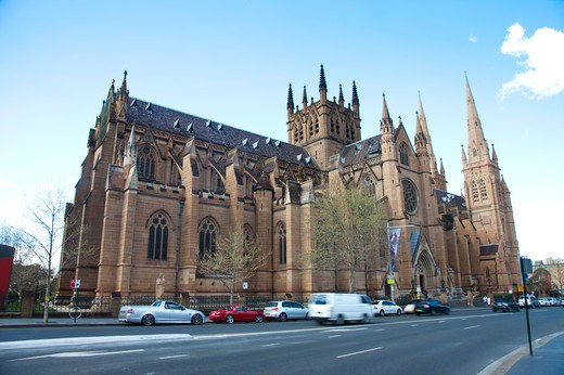 Stock Photo: 1397R-75222 Cathedral, Gothic Style, Catholicism, Sydney, Australia - Australasia