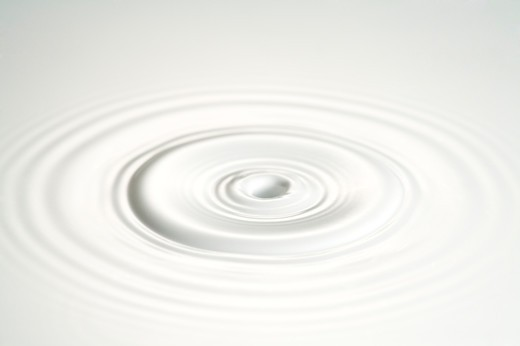Milk, Rippled surface : Stock Photo