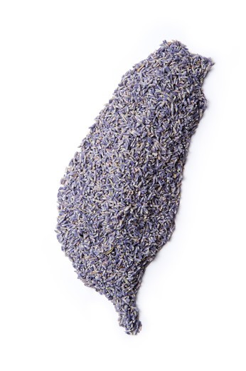 Stock Photo: 1397R-76261 Map of Taiwan made of Lavender