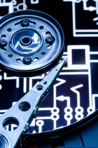 Stock Photo: 1397R-76297 Hard Drive