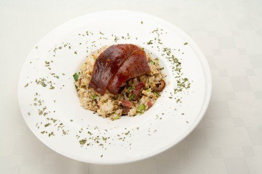 Stock Photo: 1397R-77747 Steamed pork shank and rice