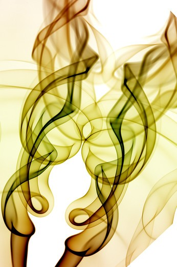 Stock Photo: 1397R-77910 Yellow smoke trail graphic design art