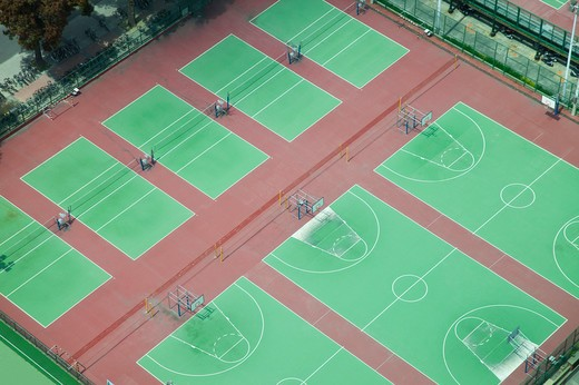 Stock Photo: 1397R-78560 Basketball Court, Tainan, Taiwan, Asia
