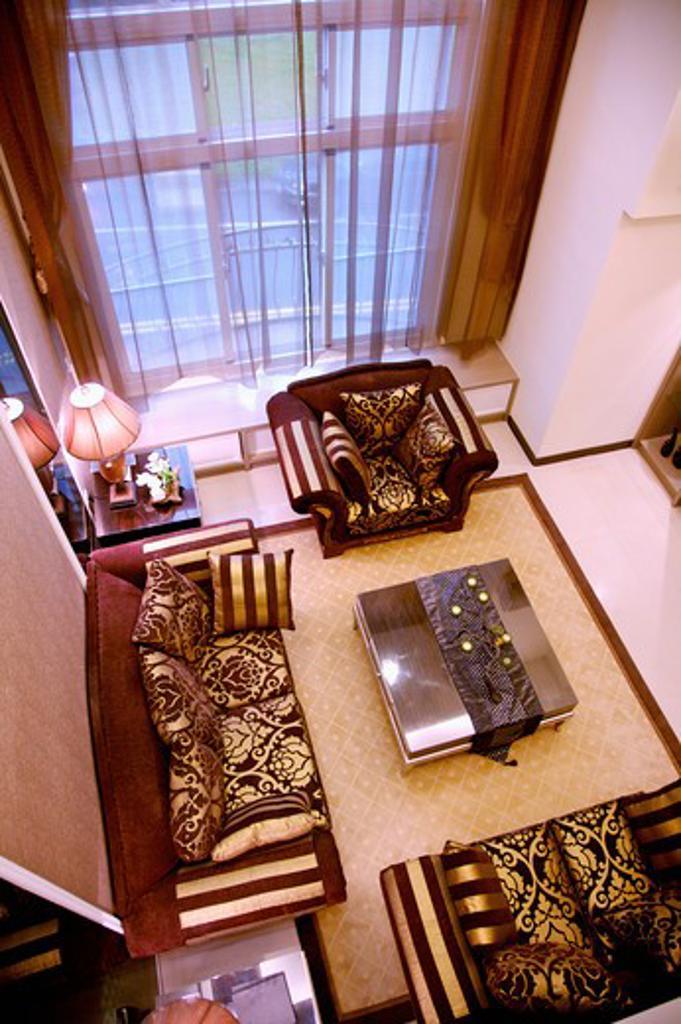 Stock Photo: 1397R-78796 Living Room, Interior Design,