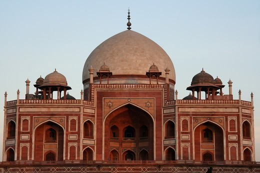 Stock Photo: 1397R-79545 The Humayun's Tomb,India,Asia