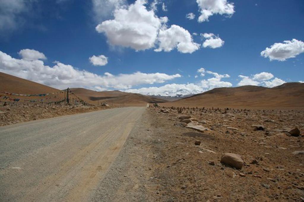 Stock Photo: 1397R-79641 tibet road,Tibet,Asia