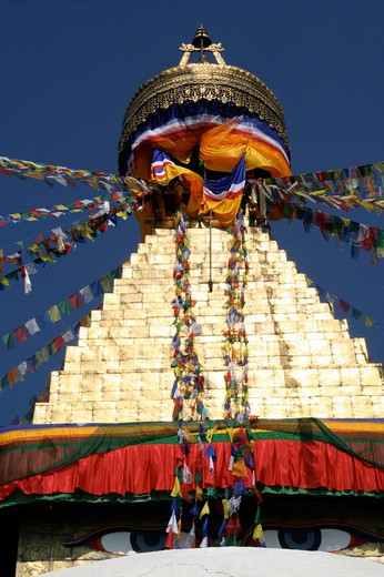 Stock Photo: 1397R-79668 The Boudhanath,Nepal,Asia