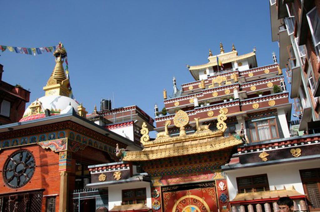 Nepalese temple tamel kathmandu,Nepal,Asia : Stock Photo