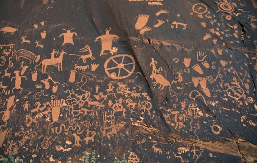 Stock Photo: 1400-409 Petroglyphs
