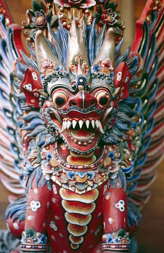 Stock Photo: 1403-136 Details of a dragon statue, Bali, Indonesia