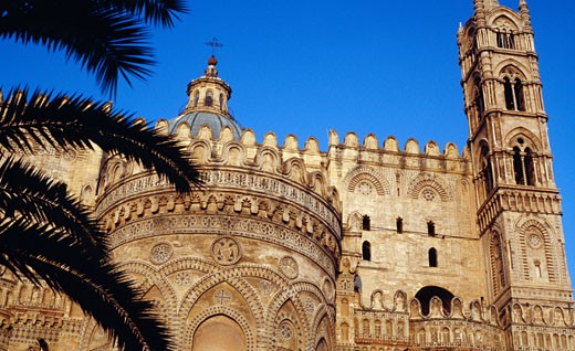 Stock Photo: 1403-350 Low angle view of a cathedral, Palermo Cathedral, Palermo, Sicily, Italy