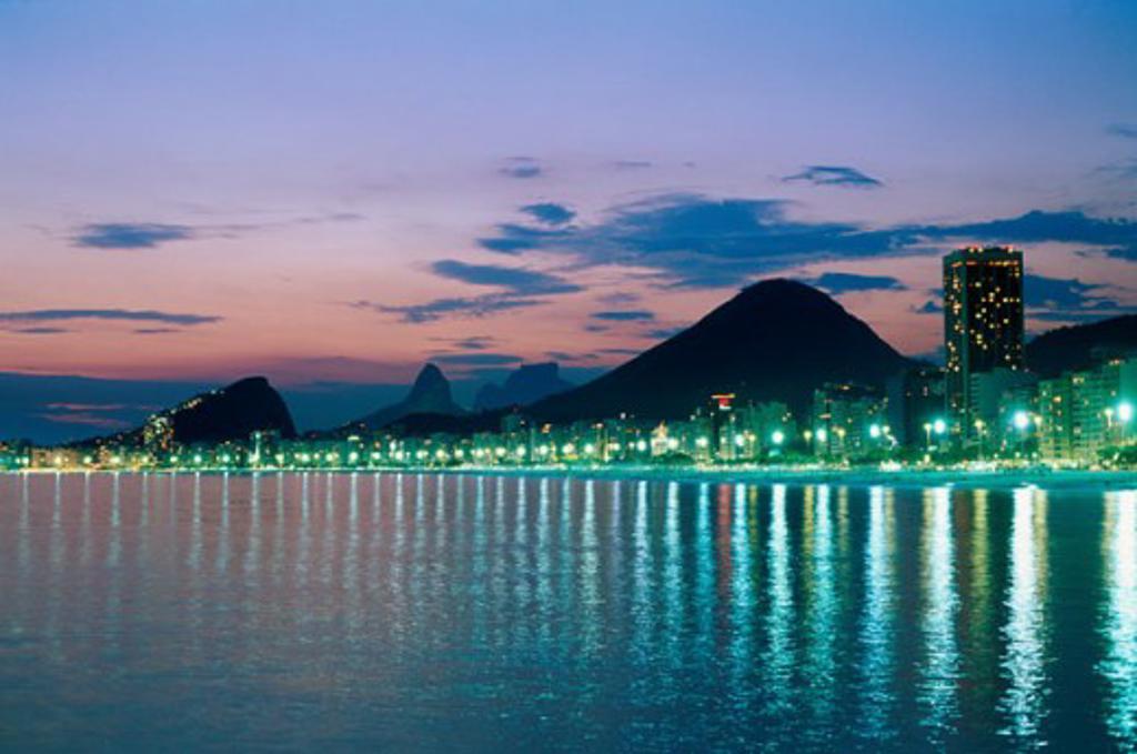 Stock Photo: 1403-551 Copacabana Beach Rio de Janeiro Brazil