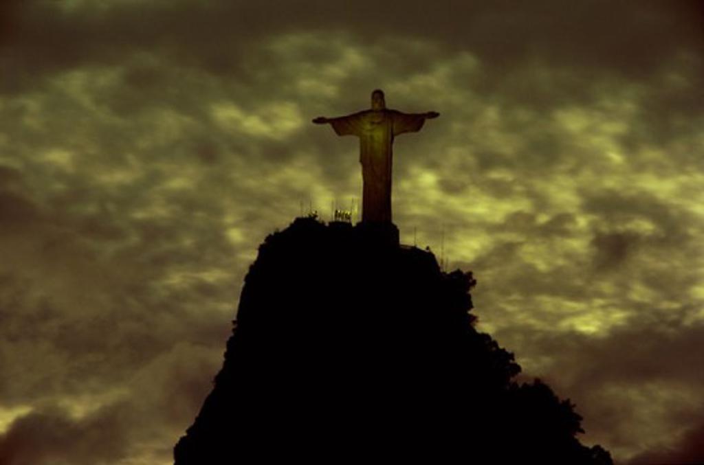 Stock Photo: 1403-601A Christ the Redeemer Statue  Mount Corcovado  Rio de Janeiro, Brazil