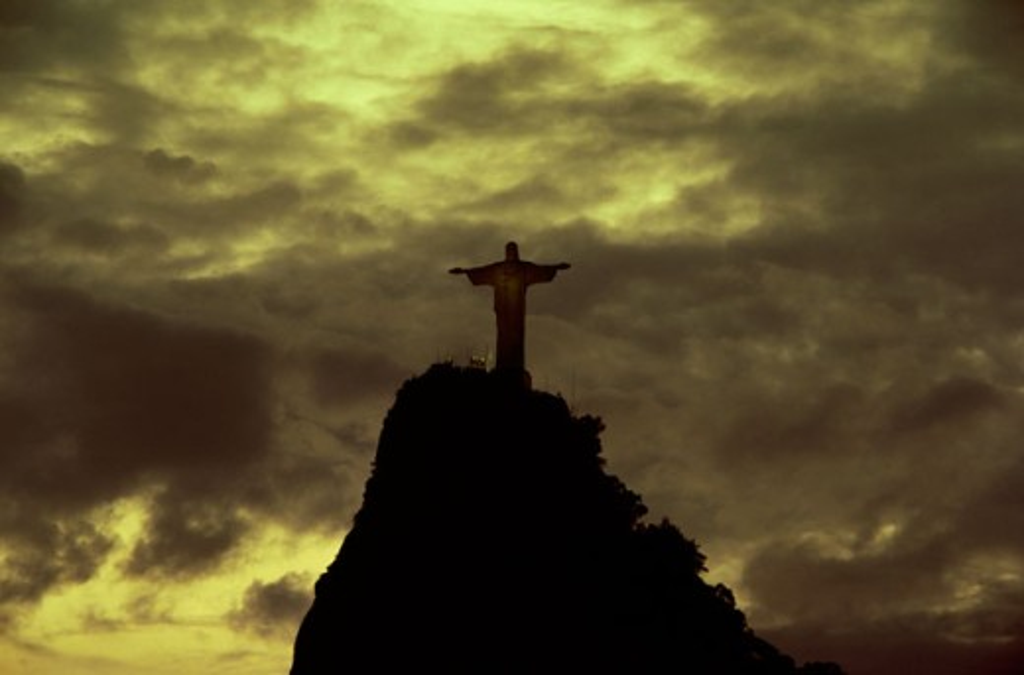 Christ the Redeemer Statue Mount Corcovado  Rio de Janeiro, Brazil : Stock Photo
