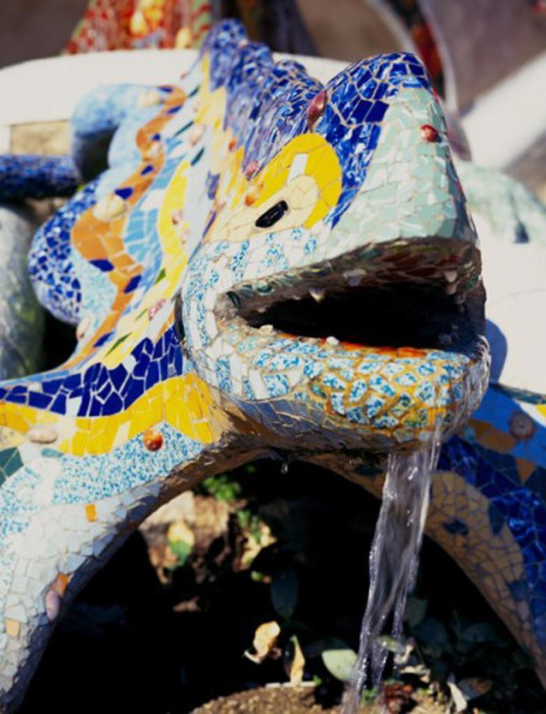 Stock Photo: 1408-111 Guell Park Barcelona Spain