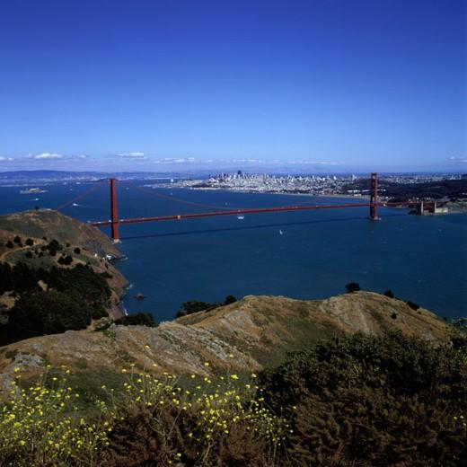 Stock Photo: 1417-450 Golden Gate Bridge San Francisco California USA