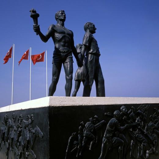 Ataturk Statue Turkey : Stock Photo