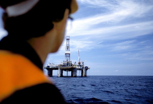 Stock Photo: 1419-114 Offshore Oil Rig