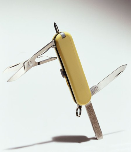 Close-up of a penknife : Stock Photo