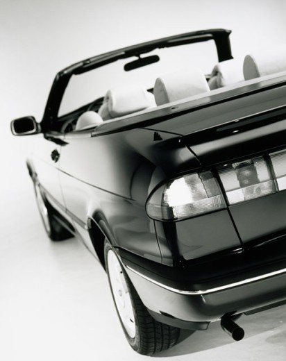 Close-up of a convertible car, Saab 900S, 1997 : Stock Photo