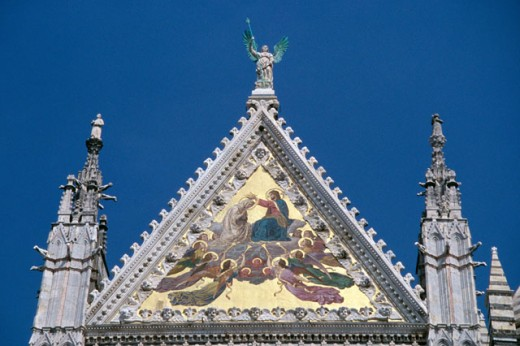 Rooftop of a church building, Siena, Italy : Stock Photo