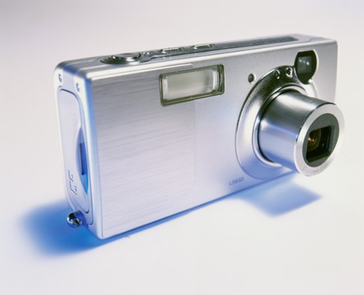 Stock Photo: 1422-516 Close-up of a digital camera